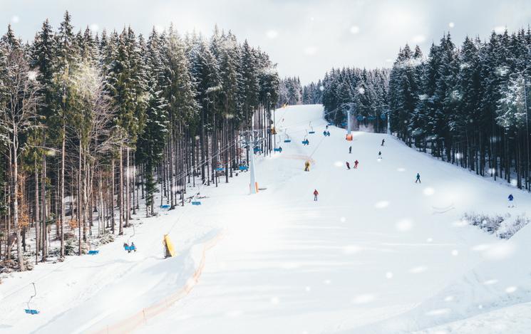 雪山のコース