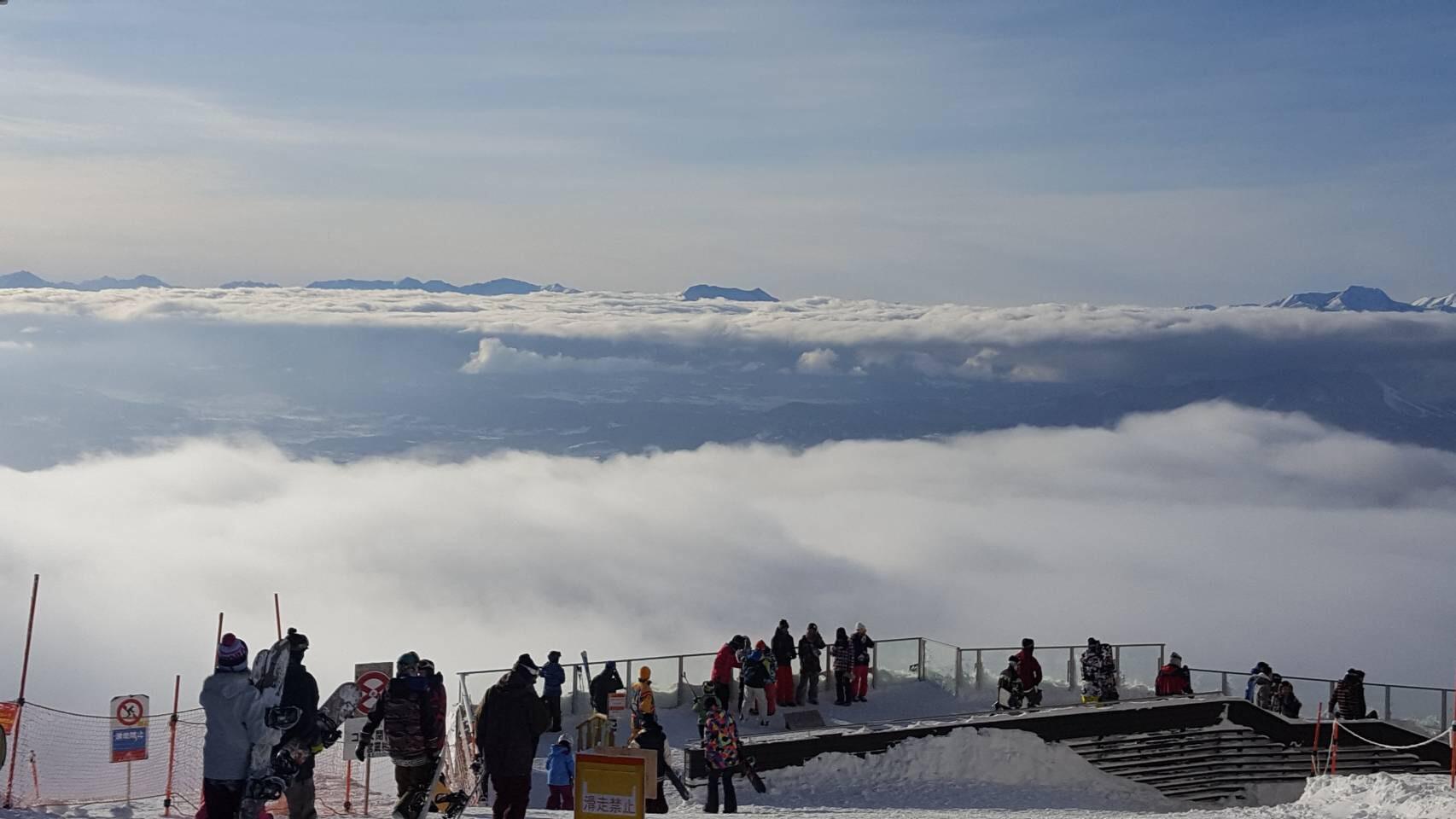 竜王スキーパークの雲海
