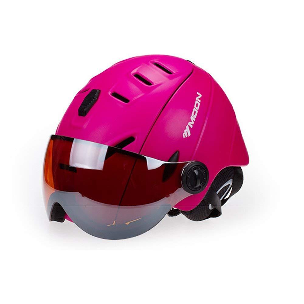 MOONの男女兼用バイザー付きスキーヘルメット