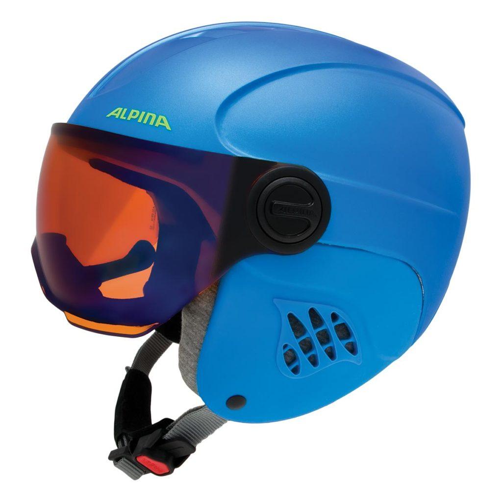 ALPINAのキッズ向けバイザー付きスキーヘルメットCARAT LE VISOR HM