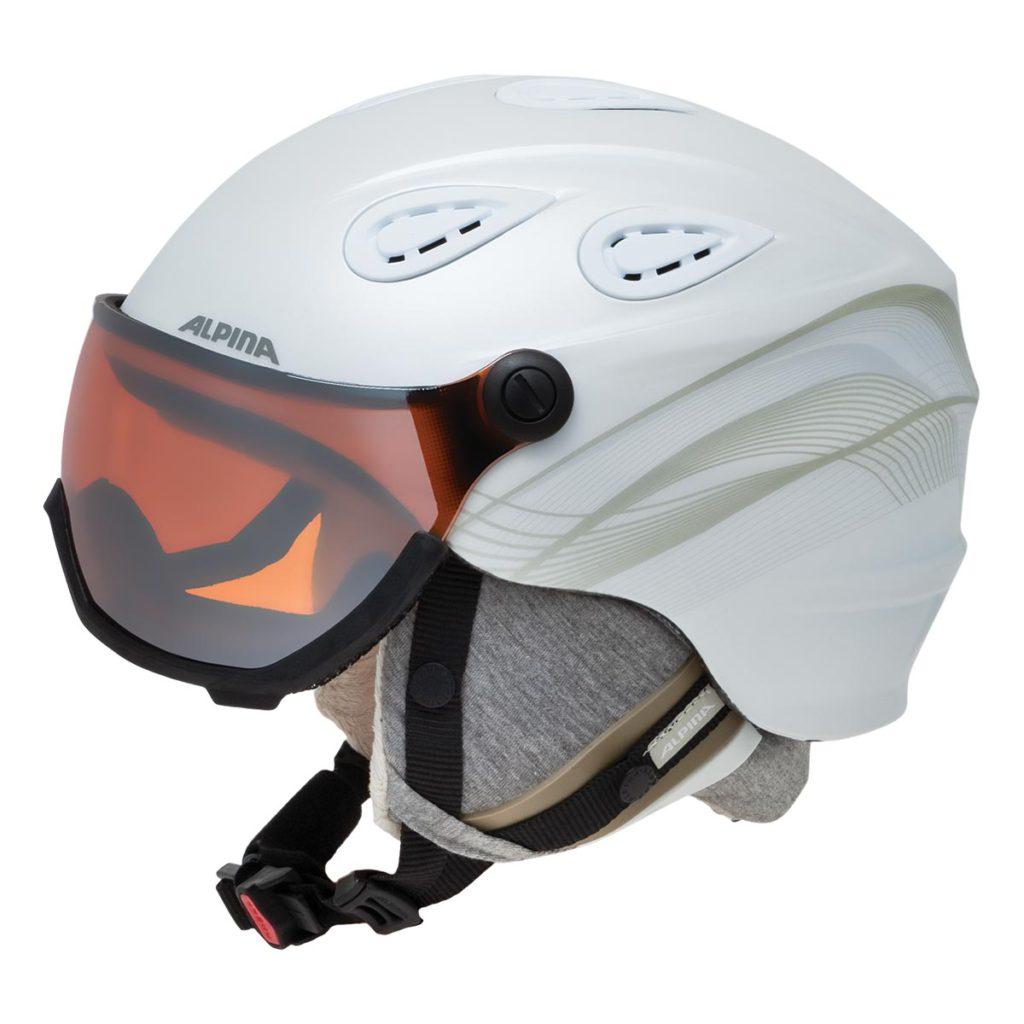 ALPINAのスキーヘルメットGRAPVISOR