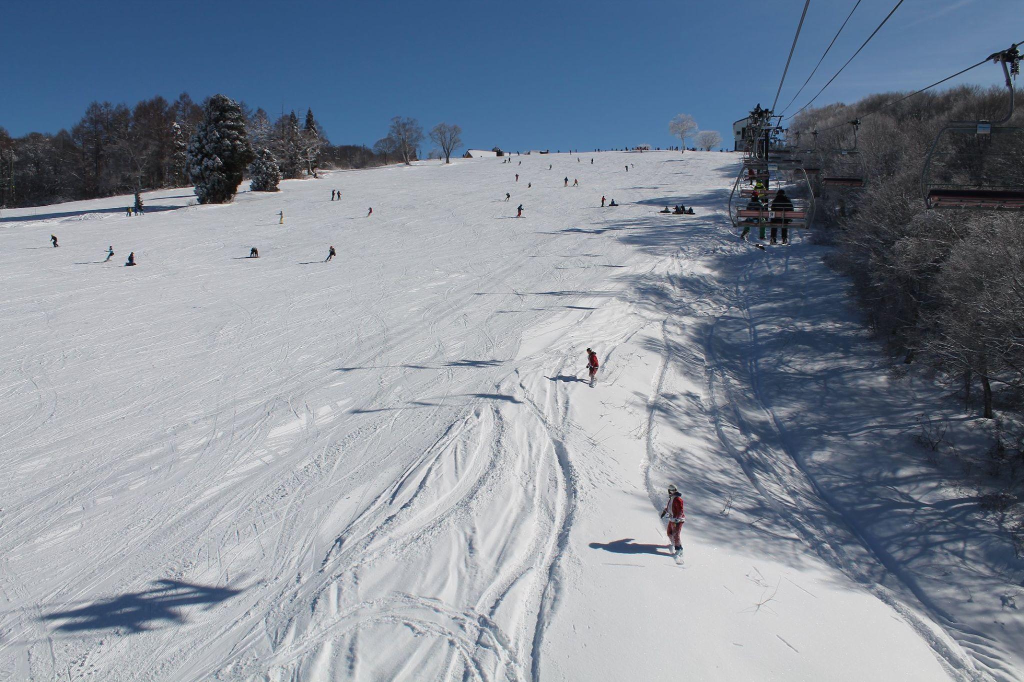 温泉 スキー 天気 野沢 場